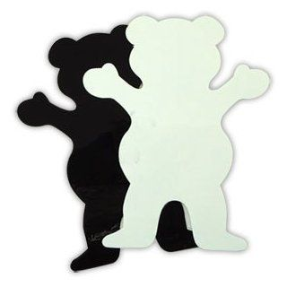 GRIZZLY GRIP Skateboard BIG BEAR WHITE STICKER 4in Decal Sports & Outdoors
