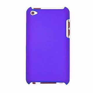 Hard Plastic Snap on Cover Fits Apple iPod Touch 4 (4th Generation) Purple Rubberized (does NOT fit iPod Touch 1st, 2nd, 3rd or 5th generations) Cell Phones & Accessories