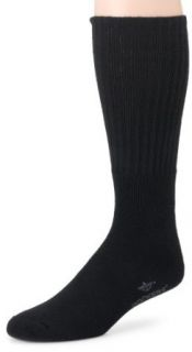 Dockers Men's 3 Pack Sport Crew Socks Big & Tall, Black, 13 to 16 Clothing