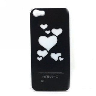 Hearts Style Flasher LED Color Changed Protector Case for iPhone 5 (Flash While Calling or Called) Cell Phones & Accessories
