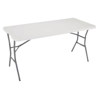 Lifetime Light Folding Table   White Granite