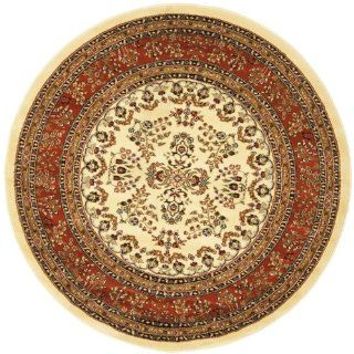 Shop Safavieh Lyndhurst Collection LNH331R Ivory and Rust Round Area Rug, 8 Feet Round at the  Home D�cor Store. Find the latest styles with the lowest prices from Safavieh