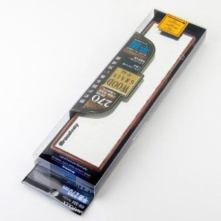 Broadway Wide Rear View Mirror with Wood Grain Look Finish 270 x 65mm Flat BW 324 Automotive