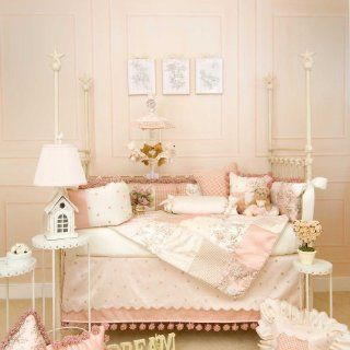 Madison 5 Piece Baby Crib Bedding Set with Pink & Tan Check Pillow by Glenna Jean  Baby