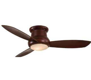 Minka Aire F519 MG 52 inch Concept II Flush Mount Ceiling Fan, Mahogany with Mahogany Blades   Ceiling Fans With Lights