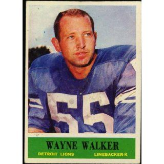 Wayne Walker Detroit Lions 1964 NFL Football Trading Card (Philadelphia Chewing Gum) (#68) Detroit Lions Books