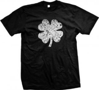 Faded Shamrock Mens T shirt, Ireland Pride, Four Leaf Clover, St. Patrick's Day Men's Tee Shirt Clothing