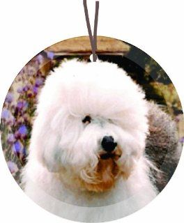 Portuguese Water Dog Round Glass Christmas Tree Ornament Suncatcher   Affordable Gift for your Loved One Item #CFS GO 337   Christmas Ball Ornaments