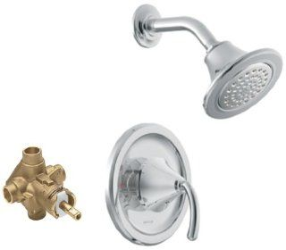 Moen TS2142 2520 Icon Posi Temp Single Handle Shower Trim Kit with Valve, Chrome   Shower Systems