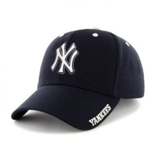 MLB New York Yankees Men's '47 Brand Frost MVP Cap, Navy, One Size  Baseball And Softball Uniform Hats  Clothing