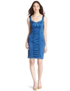 JAX Women's Stretch Satin Dress, Baltic, 12