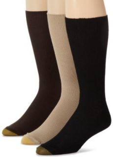 Gold Toe Men's 345S Metropolitan 3 Pack Cotton Lisle Dress Sock, Khaki/Brown/Black, 10 13 at  Men's Clothing store