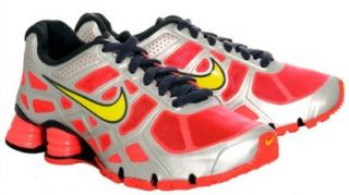 New Nike Shox Turbo + 12 SOLAR RED/METALLIC SILVER/ANTHRACITE/HIGH VOLTAGE 10 Shoes