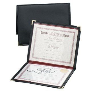 "Wholesale CASE of 10   Angler's Diploma and Certificate Holder Diploma And Certificate Holder, 12""x9"", Black/Red Lining  Blank Certificates"