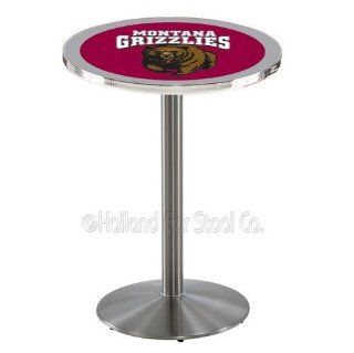 Montana Grizzlies Pub Table With Stainless Steel Base  Barstools  Home & Kitchen