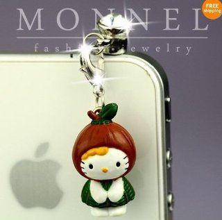 Ip363 Cute Hello Kitty Anti Dust Plug Cover Charm for Iphone 4 4s Cell Phones & Accessories