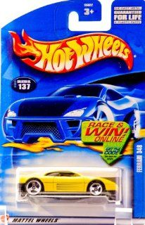 Mattel Hot Wheels 2002 164 Scale Yellow Ferrari 348 Die Cast Car #137 Toys & Games