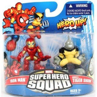 Marvel Superhero Squad Series 20 Mini 3 Inch Figure 2Pack Iron Man Tigershark Toys & Games
