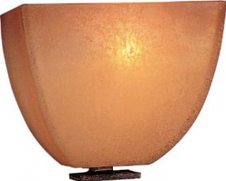 "Minka Lavery 1270 357 1 Light 6.5"" Width ADA Wall Sconce from the Lineage Collection, Iron Oxide   Home Theater Wall Sconces Lighting"