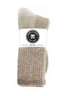 4pairs Heather Brown Mens Merino Wool Blend Boot Socks for the Outdoors  Athletic Socks  Sports & Outdoors