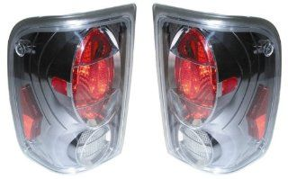 2001 2005 Ford Ranger Tail Lights (Helmet Gun Metal) 1 Pair(Driver and Passenger Sides) (2002 2003 2004) Automotive