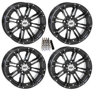 "STI HD3 ATV Wheels/Rims Black 12"" Kawasaki Teryx Mule (4) Automotive"