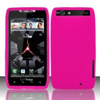 Hot Pink Silicon Case for MOTOROLA Motorola Droid RAZR XT912 Cell Phones & Accessories