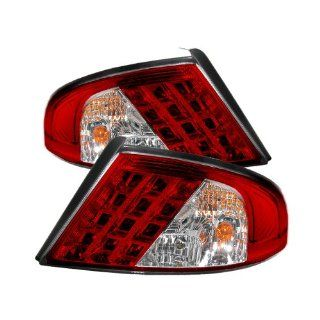 Dodge Stratus 2001 2002 2003 2004 2005 2006 4DR LED Tail Lights   Red Clear Automotive