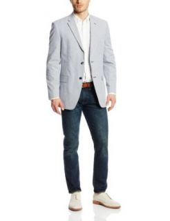 Tommy Hilfiger Men's Ethan Seersucker Two Button Side Vent Sport Coat at  Men�s Clothing store