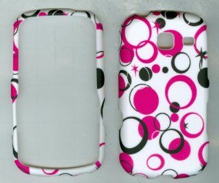 White Pink Pattern Faceplate Hard Protector Cover Case for Samsung Sch s380c Cell Phones & Accessories