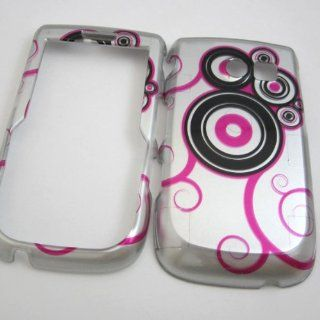 Hard Phone Cases Covers Skins Snap on Faceplate Protector for Samsung Sch r375c R375c Straight Talk Pink on Silver Vine (Wholesale Price) Cell Phones & Accessories