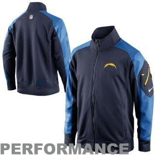 Nike San Diego Chargers Fly Speed Full Zip Performance Jacket   Navy Blue/Light Blue  Sports Fan Outerwear Jackets  Sports & Outdoors