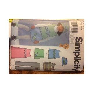 Simplicity 5804 Sewing Pattern for Little Girls Fleece Pullover Jumper or Vest, Skirt, Pants, & Hat Sizes 2 3 4 5 6 6x Simplicity Books