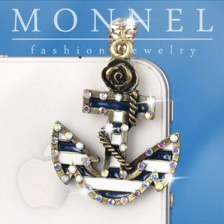 ip386 Cute Sea Boat Anchor Anti Dust Plug Cover Charm for iPhone Cell Phone Cell Phones & Accessories