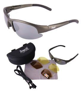 Lightweight POLARISED FISHING SUNGLASSES with Interchangeable Polarized Anti Glare and Low Light Lenses. UV (UVA / UVB) Protection. For Men & Women. TR90 Silver Gray Frame  Fishing Equipment  Sports & Outdoors
