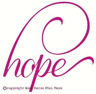 Wall D�cor Plus More WDPM2200 Hope with Swoop Wall Vinyl Lettering Sticker Decal, 16 W x 16 H, Hot Pink, 1 Pack   Decorative Wall Appliques