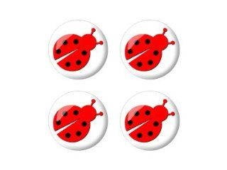 Ladybug Lady Bug   3D Domed Set of 4 Stickers Badges Wheel Center Cap Automotive