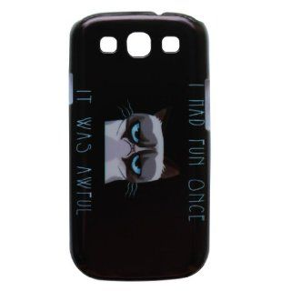 Generic Hard Back Case Cover Funny Grumpy Cat Quotes Pattern Compatible With Samsung Galaxy S III S3 i9300 Color White Cell Phones & Accessories