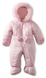 Rothschild Baby Girls Newborn Infant Quilted Princess Pram With Bow   Petal Pink (0 6 Months) Clothing