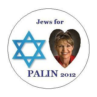 "* JEWS FOR PALIN 2012 * Sarah Palin 2012 Presidential Election / President Political Pinback Button 1.25"" Pin / Badge"