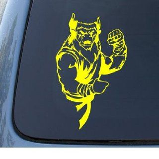 KARATE MONSTER   Car, Truck, Notebook, Vinyl Decal Sticker #1228  Vinyl Color Yellow Automotive