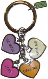 Coach Be Mine Valentine Hearts Key Chain Fob Clothing