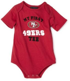 "NFL Infant/Toddler Boys' San Francisco 49Ers ""My First Tee"" Onesie (Red, 12 Months)  Sports Fan T Shirts  Clothing"