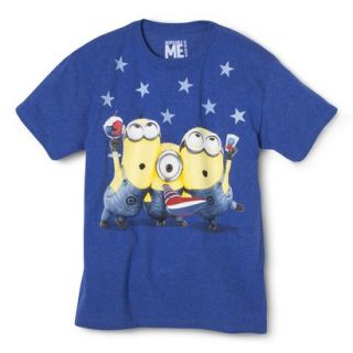 Boys Short Sleeve Minions Tee   Deep Water