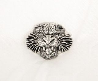 Heavy Metal Panther Head Belt Buckle Jungle Cat Clothing