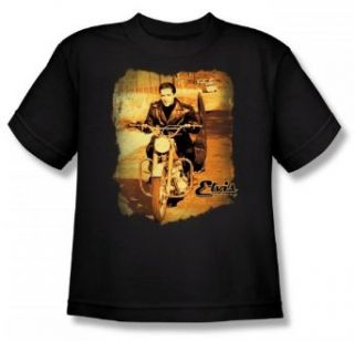Elvis   Hit The Road Youth T Shirt In Black Clothing