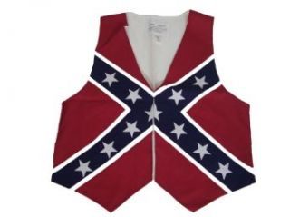 Confederate Civil War Flag Vest Made in the U.S.A (XXL) Clothing