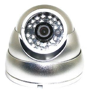 "1/3"" Sony CCD 420TVL 24 LED IR Infrared Vandal Proof Dome Camera BLACK  Camera & Photo"