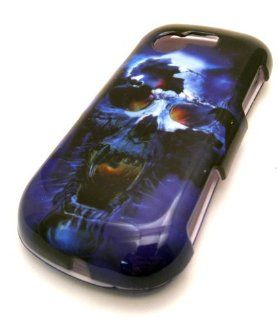 Samsung S425G SPG 425G Blue Terminator Skull Gloss Case Skin Cover Faceplate Mobile Phone Accessory Cell Phones & Accessories