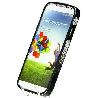 Metal Diamond Multi Color Crystal Bling Aluminum Bumper Black Hard Case Cover for Samsung Galaxy S4